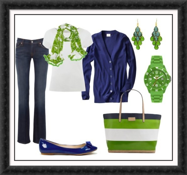 Green/navy #2 except for the watch.