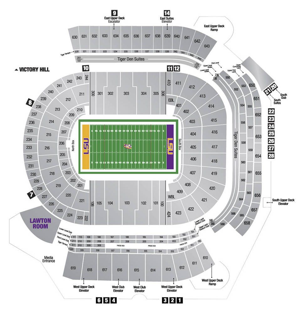 2014 tiger stadium seating chart lsu sec game days pinterest