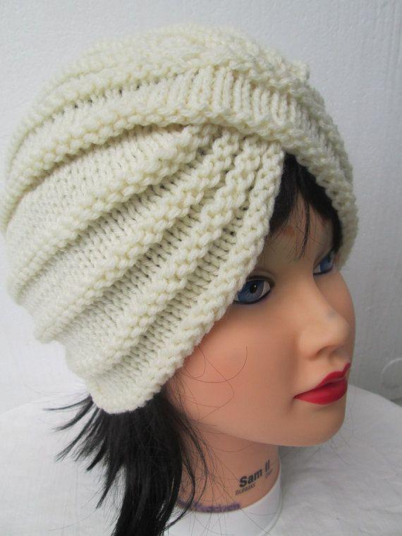 Punto turbante sombrero para mujer invierno sombrero turbante ...