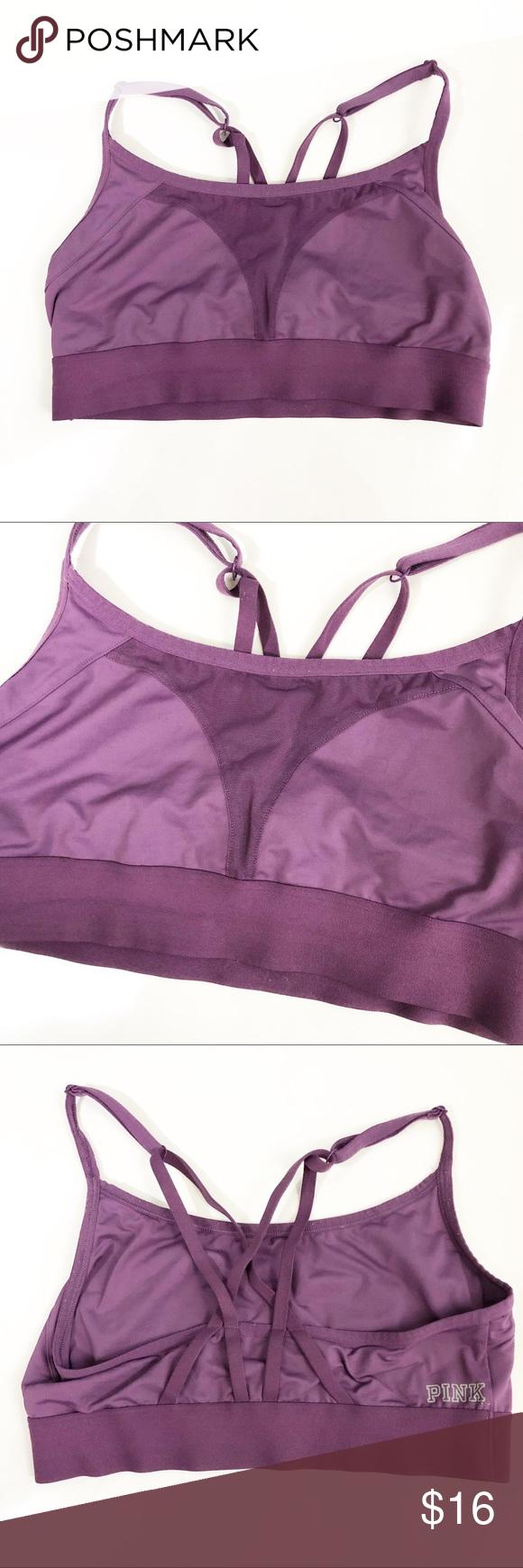 75d9e88ca3 Victoria s Secret PINK ultimate sports bra Purple Victoria s Secret PINK  ultimate sports bra. Strappy back. Size M PINK Victoria s Secret Intimates  ...