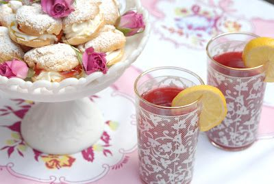 Plum Puffs and Raspberry Cordial for an Anne of Green Gables Tea!