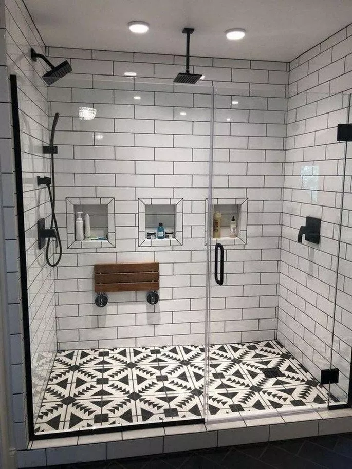Print Of Tiled Shower Stalls Create Distinctive And Stylish Shower Zone Modern Master Bathroom Remodel Modern Master Bathroom Bathroom Remodel Master