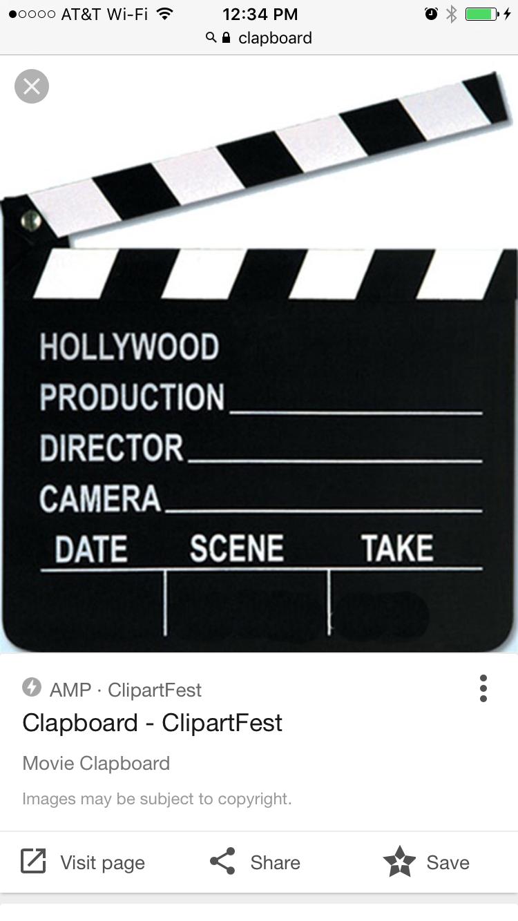 Movie Clapboard Svg Wwwtopsimagescom