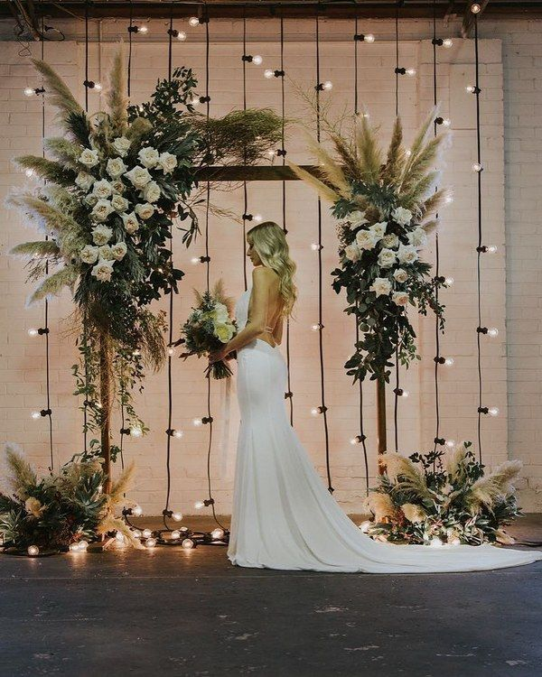 Top 20 Bohemian Pampas Grass Wedding Arches   Roses & Rings   Wedding arch,  Wedding lights, Wedding decorations