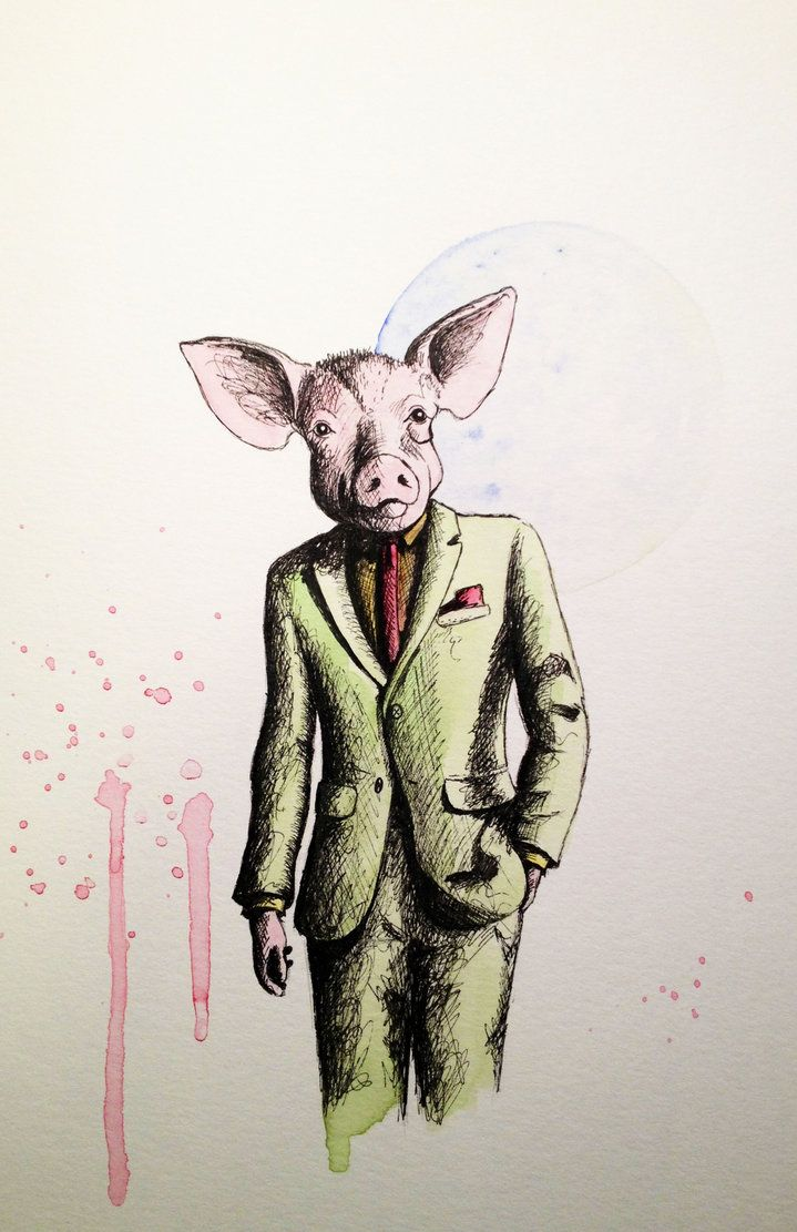 pig in a suit\