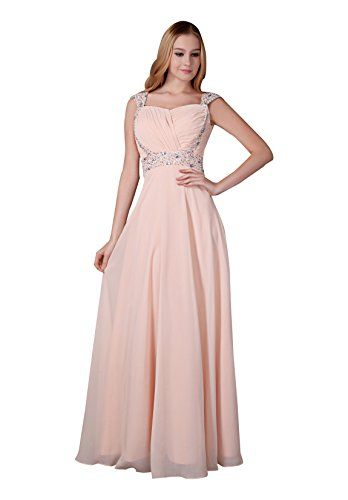 Melantha Long Chiffon Prom Dresses Peach Formal Dress for Women Size 10 Peach