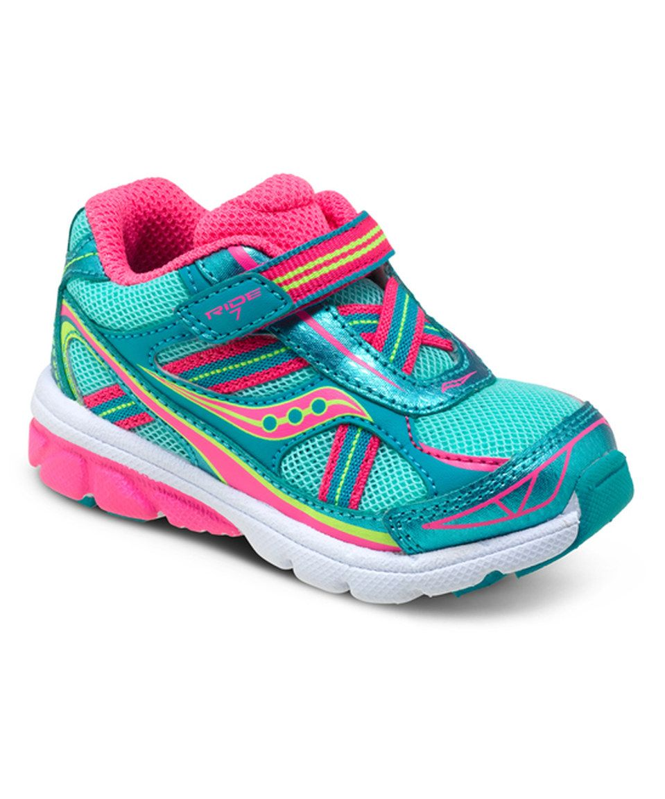 Turquoise & Pink Ride 7 Sneaker by Saucony #zulily #zulilyfinds