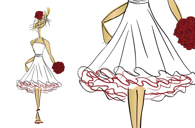 Cartoon Short Wedding Dress