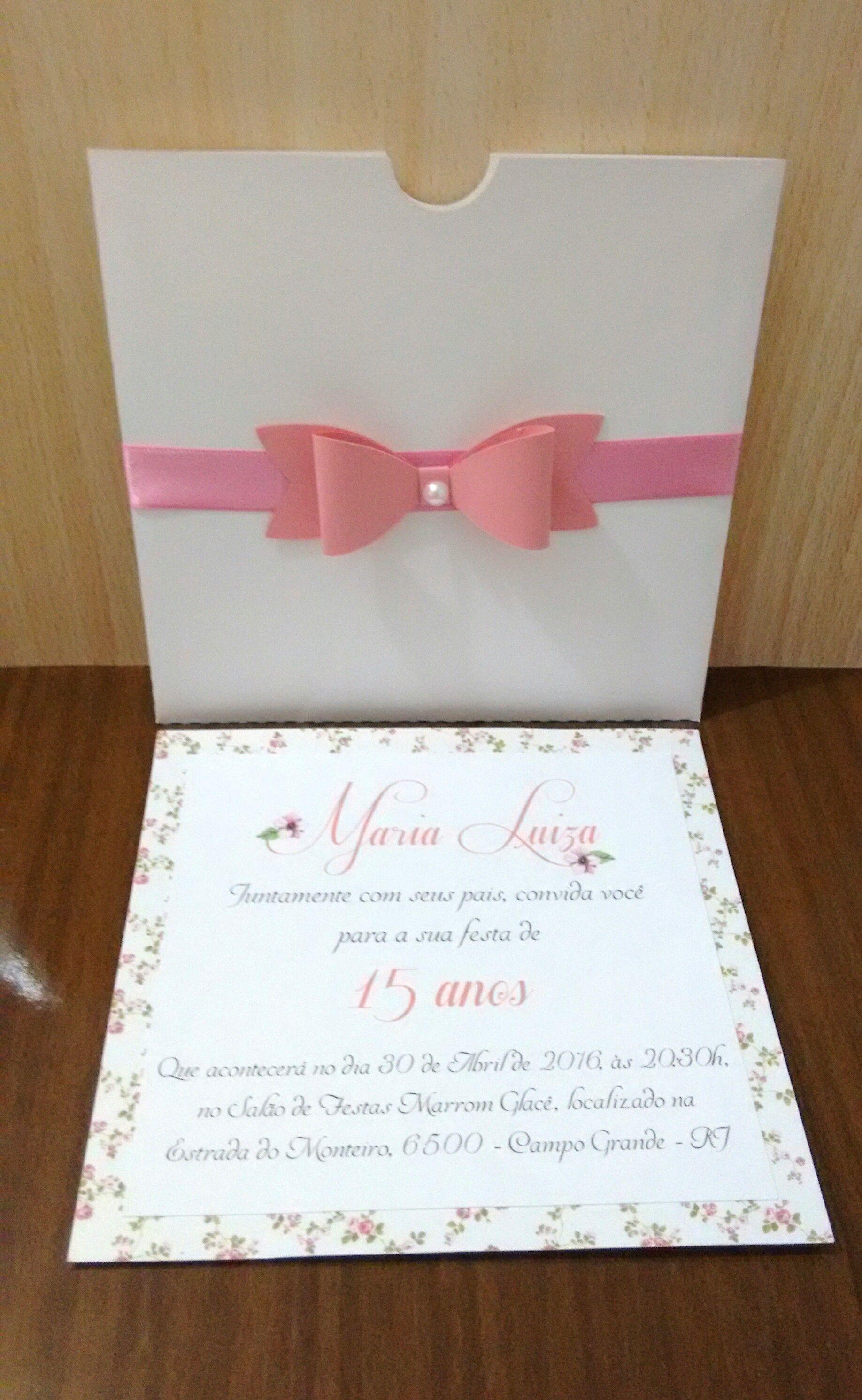 a41359a03 Convite 15 Anos Floral