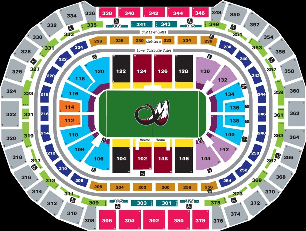 Pepsi Center Seating Chart With Seat Numbers Di 2020