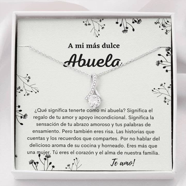 Abuela Gift, To My Grandma Necklace Gift, Abuela Necklace, Spanish Grandmother necklace, Thanksgiving & Christmas Gift For Abuela/Grandma by DevinegiftsDesigns on Etsy