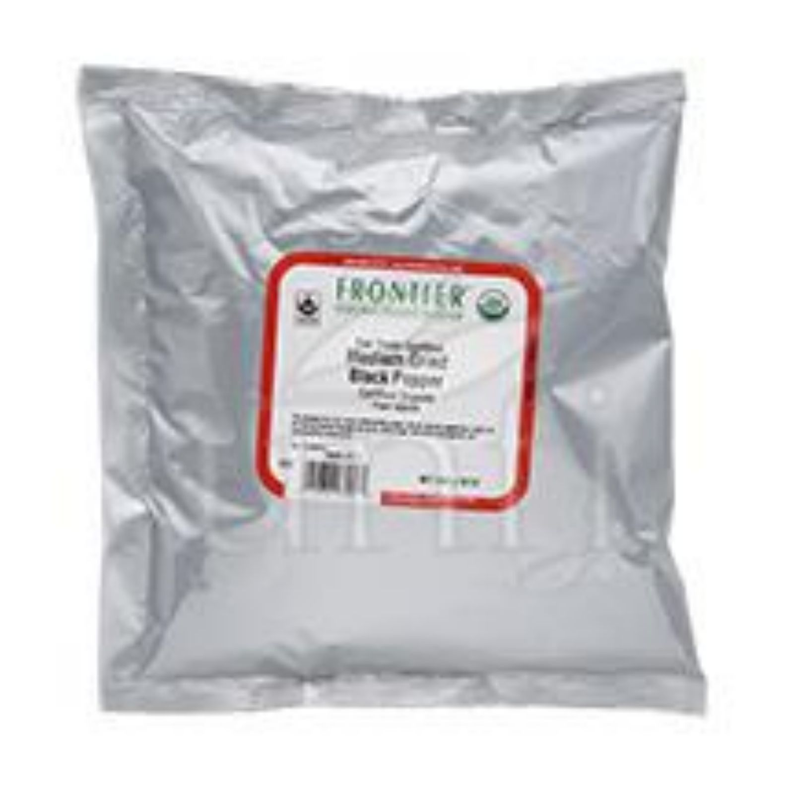 Frontier Herb Pepper - Organic - Fair Trade Certified - Black - Medium Grind - Bulk - 1 lb
