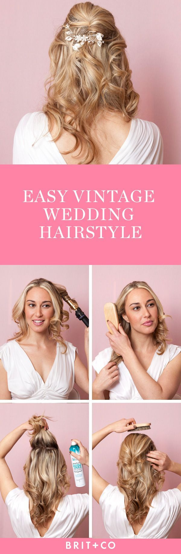Bookmark this to create a vintage hairstyle for your special day
