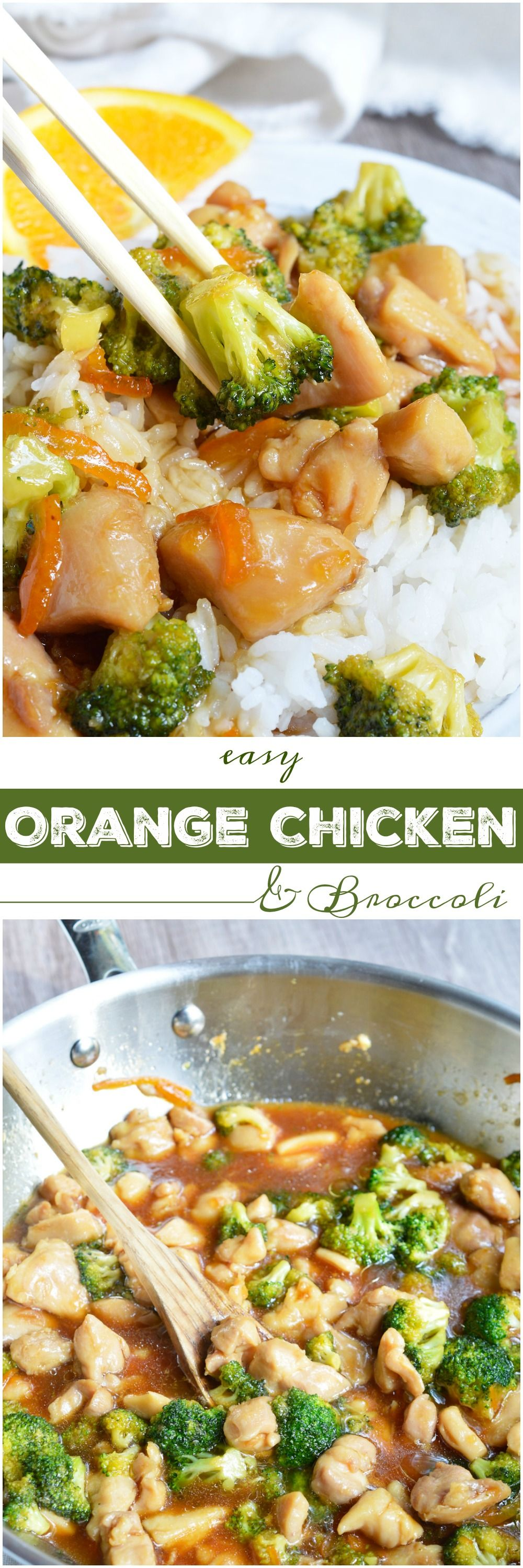 If you're craving Chinese take out this Orange Soy Chicken Broccoli is the dinner recipe you need! With six ingredients and about 20 minutes you can have a delicious Asian inspired meal. #ad #BeAKitchenHero