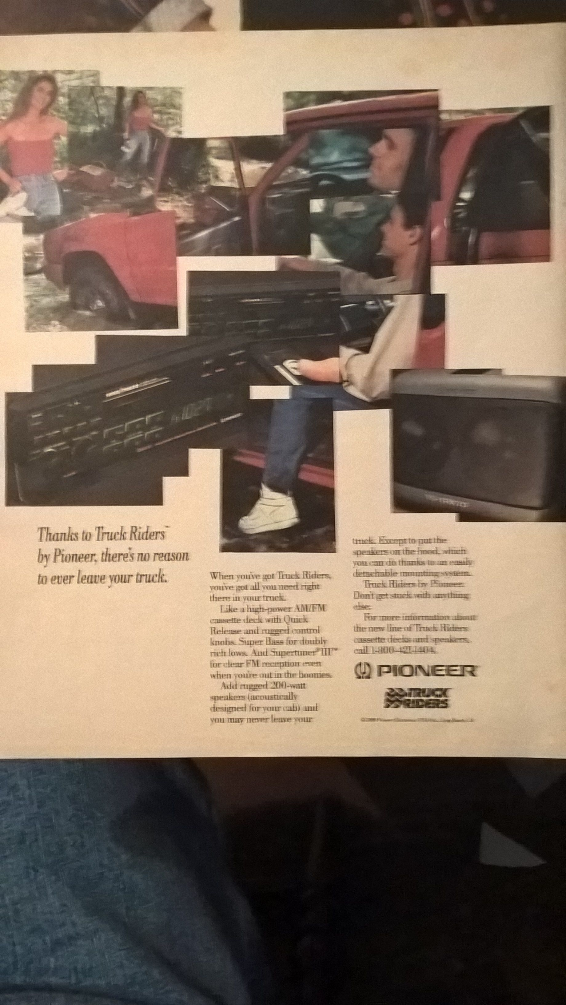 1989 Pioneer Truck Riders and Super Tuners III car stereos ad
