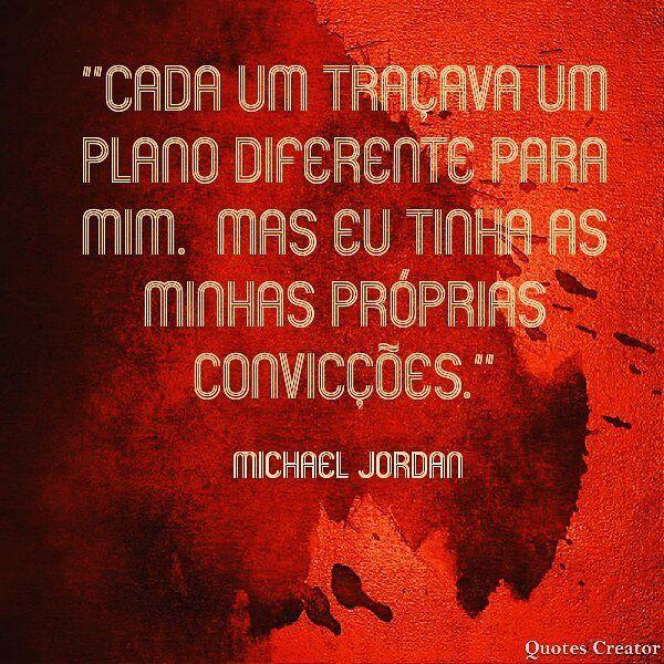 """""""Cada um traçava um plano diferente para mim. Mas eu tinha as minhas próprias convicções."""" Michael Jordan #michaeljordan #jordan #frases #quote #quotes #citação #basket #motivation #motivate #motivação @debora.professora.danca"""