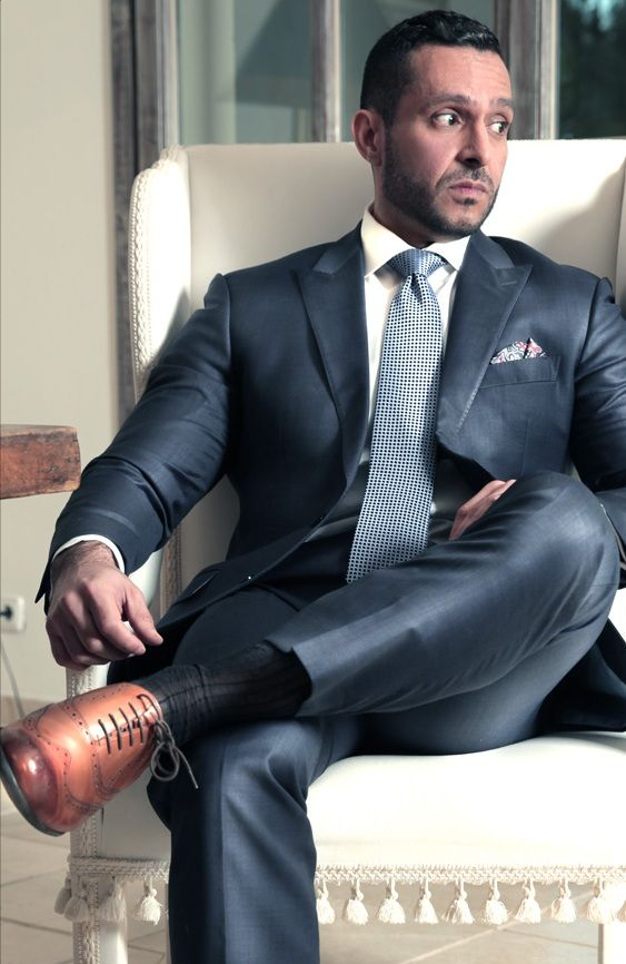 Gay men in business suits