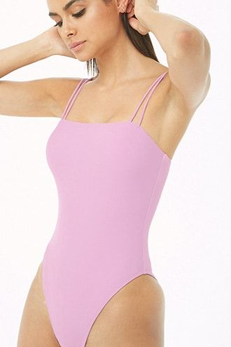 05051afaa Strappy One-Piece Swimsuit. Women s One-Piece Swimsuits ...