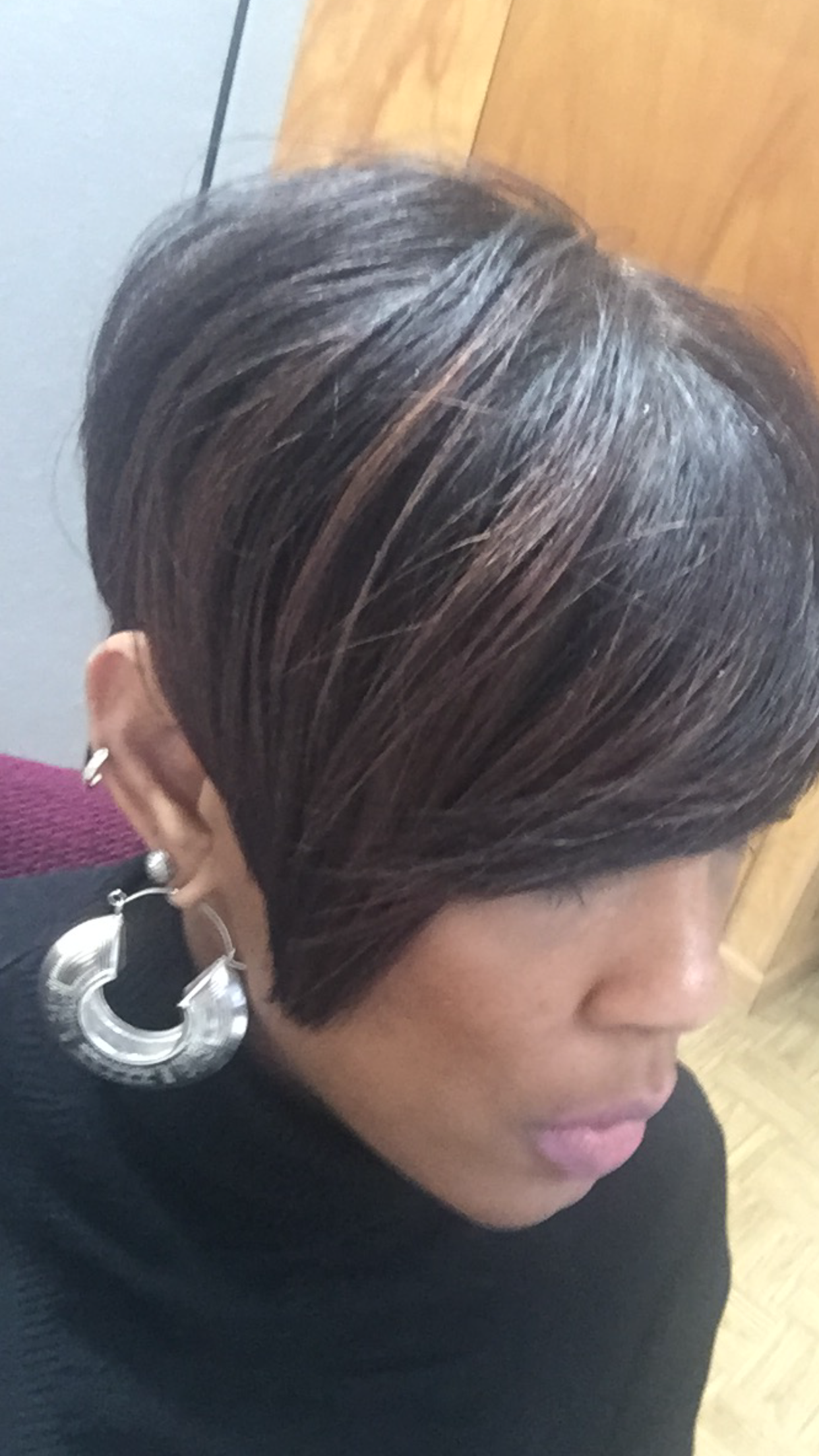 tapered bob with highlights (for summer hair)