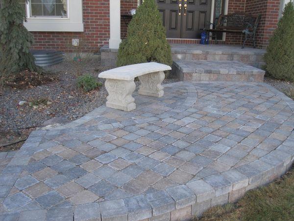 Patio Pavers For A Front Porch With Paver Steps Concrete Pavers