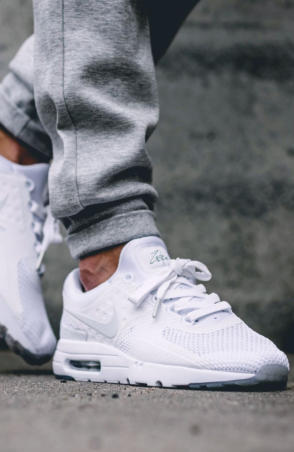 ebe1a2670f92e Nike Air Max Zero Triple White  sneakernews  Sneakers  StreetStyle  Kicks