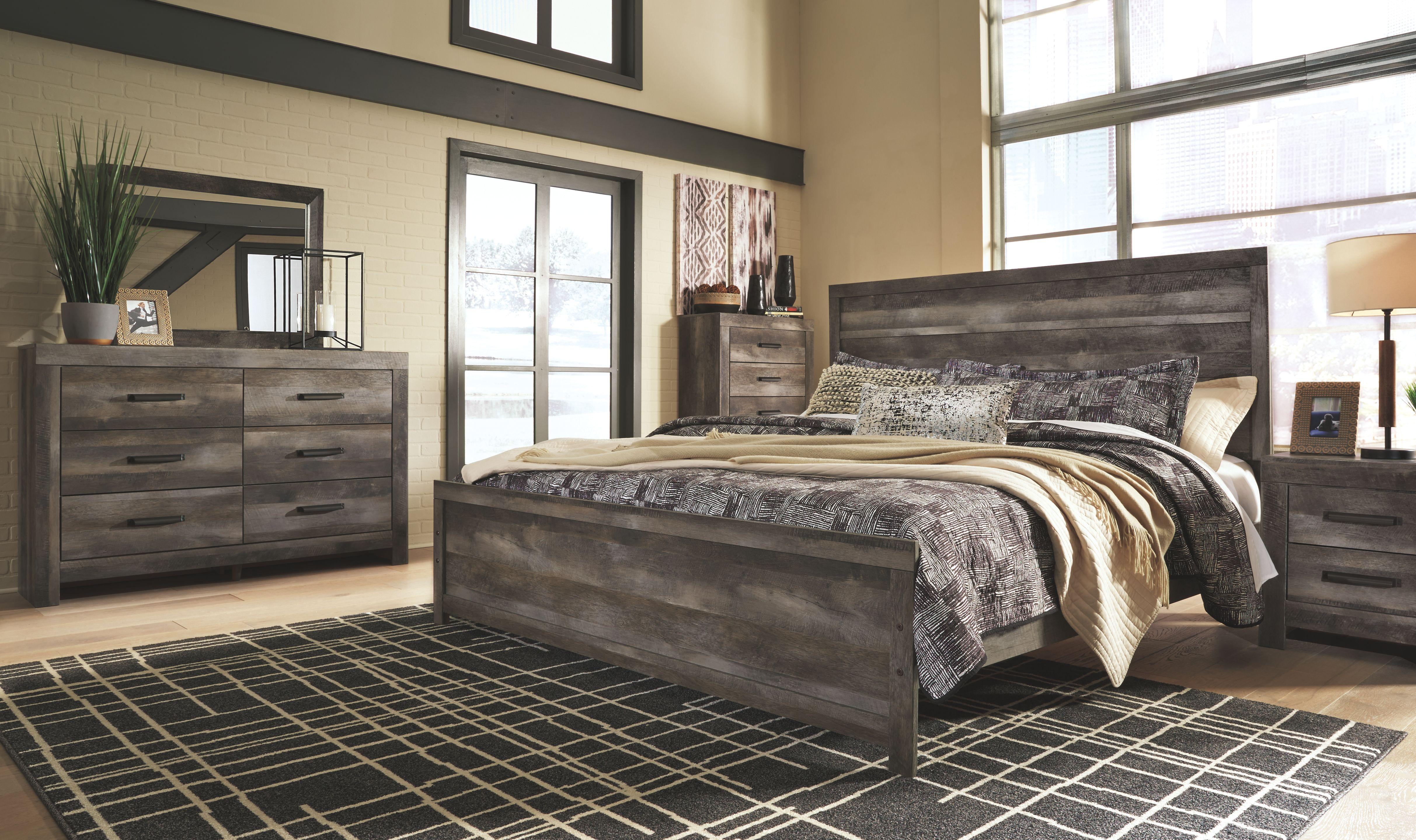 Wynnlow King Panel Bed, Gray Bedroom sets, Bedroom set