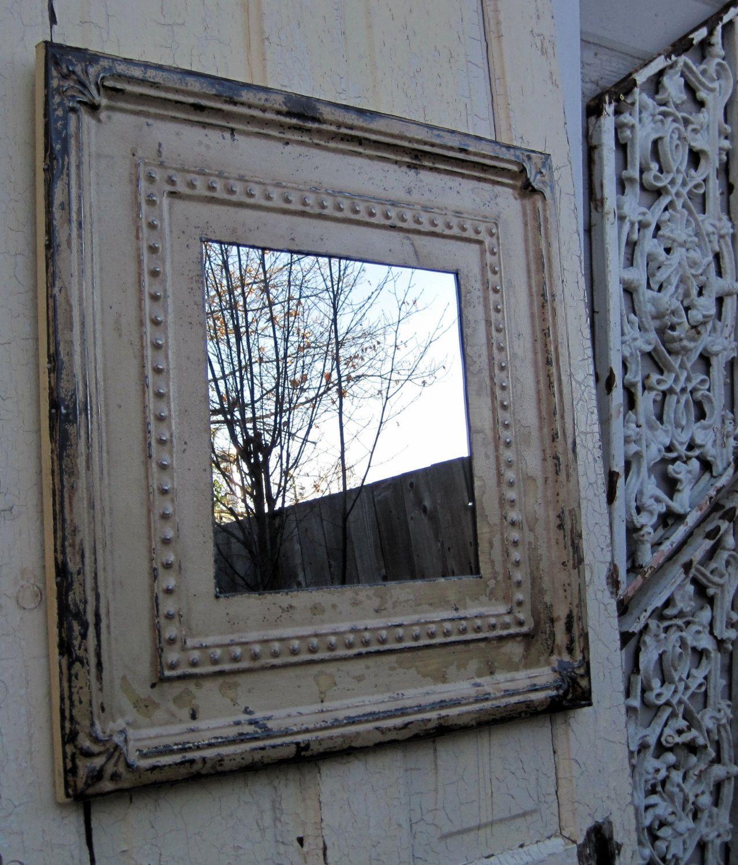 Antique Ceiling Tin Tile Mirror