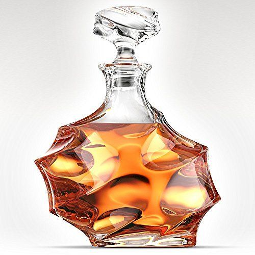 Amazon.com | ANTONI BARCELONA Whiskey Decanter 32oz - Unique Liquor Decanter, Rum, Tequila, Bourbon, Scotch & Mouthwash - Unique Gifts Set For Men, Women, Dad, Him, Groom: Liquor Decanters