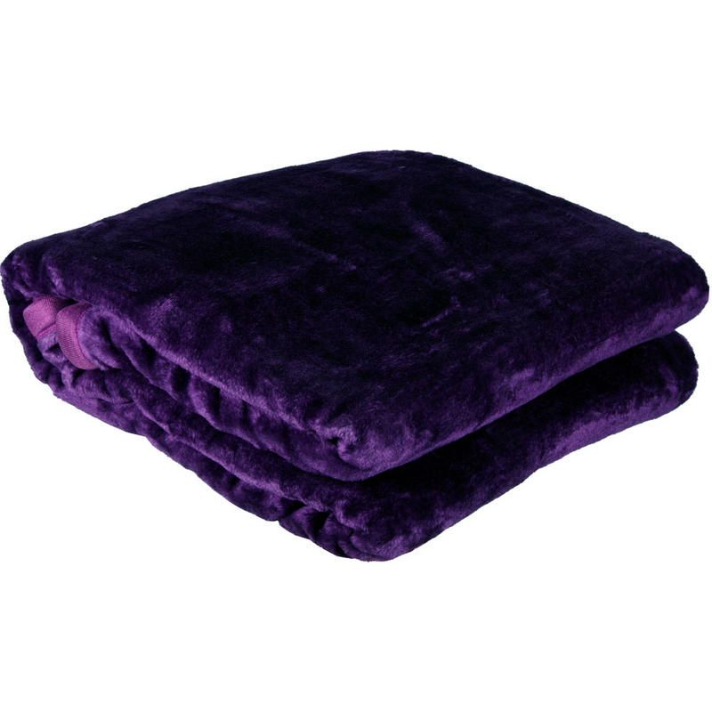 purple throw blanket luxurious purple fleece blanket bed throw large 200 x 220cm new