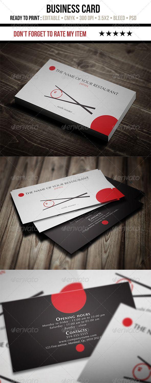 Japanese restaurant business card business cards business and logos japanese restaurant business card magicingreecefo Images