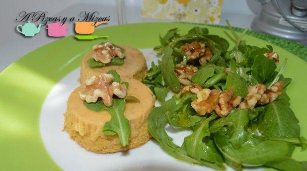 Otra receta veraniega para disfrutar del verano: flanes de espárragos y queso