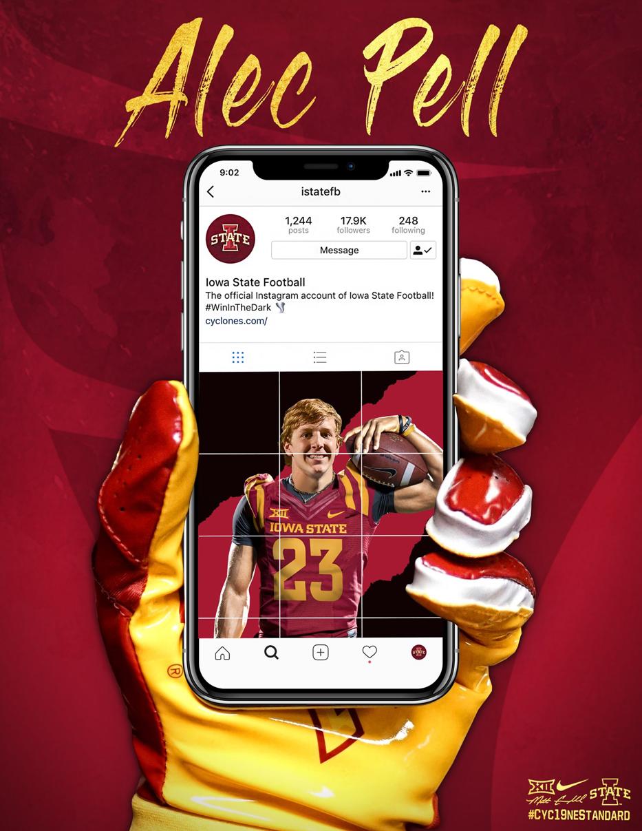 Iowa State Sports graphic design, College football