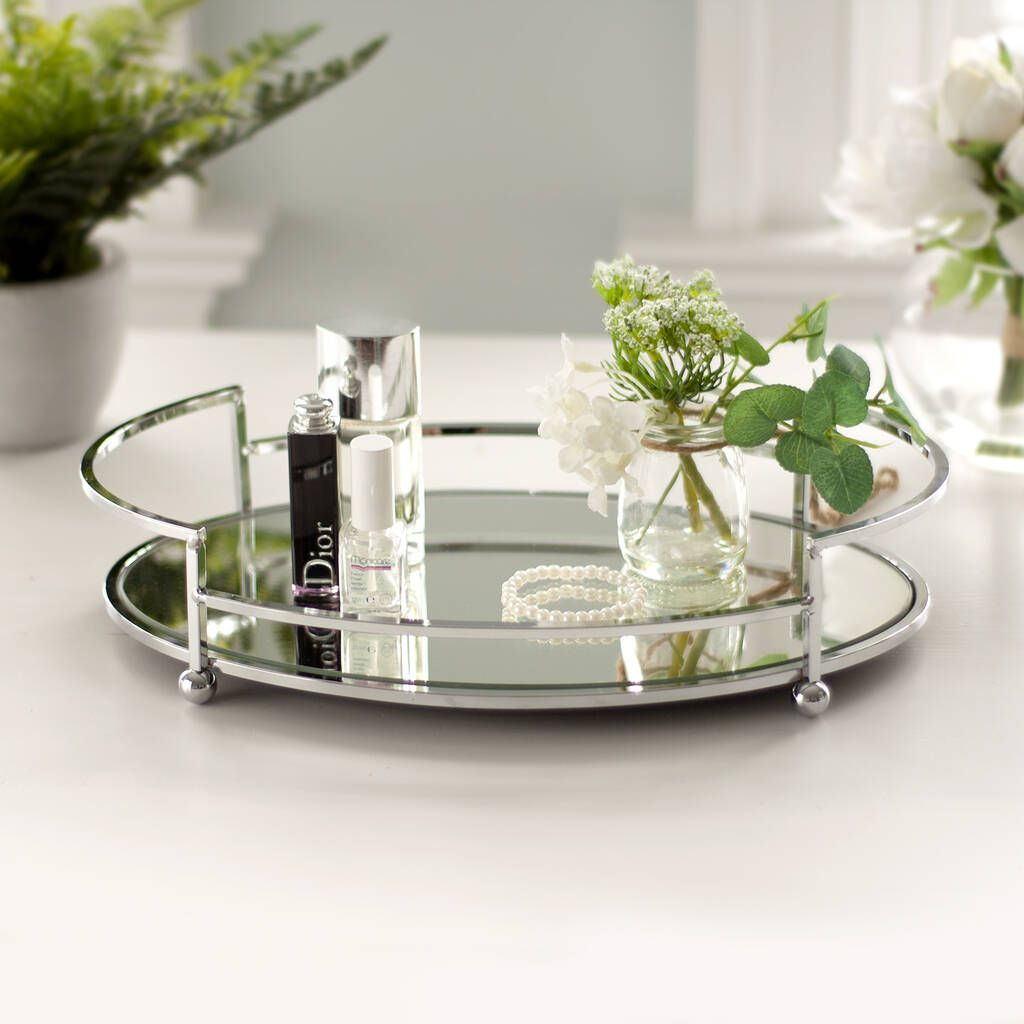 Silver Mirror Tray Mirror Tray Silver Tray Decor Rose Gold Mirror