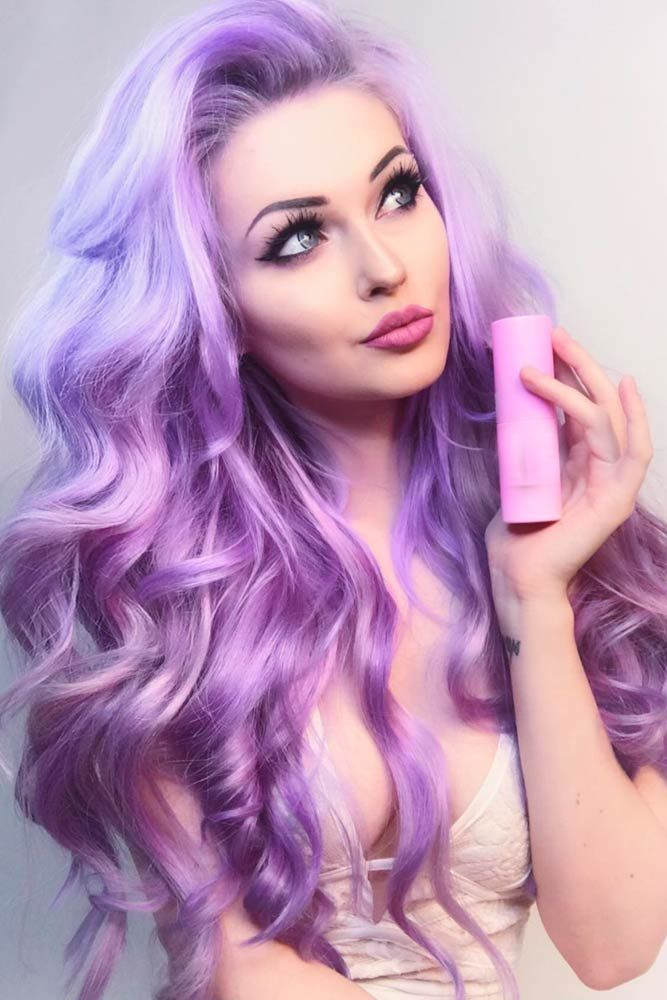 24 Inspiring Purple Hair Color Ideas | Violet hair, High times and ...