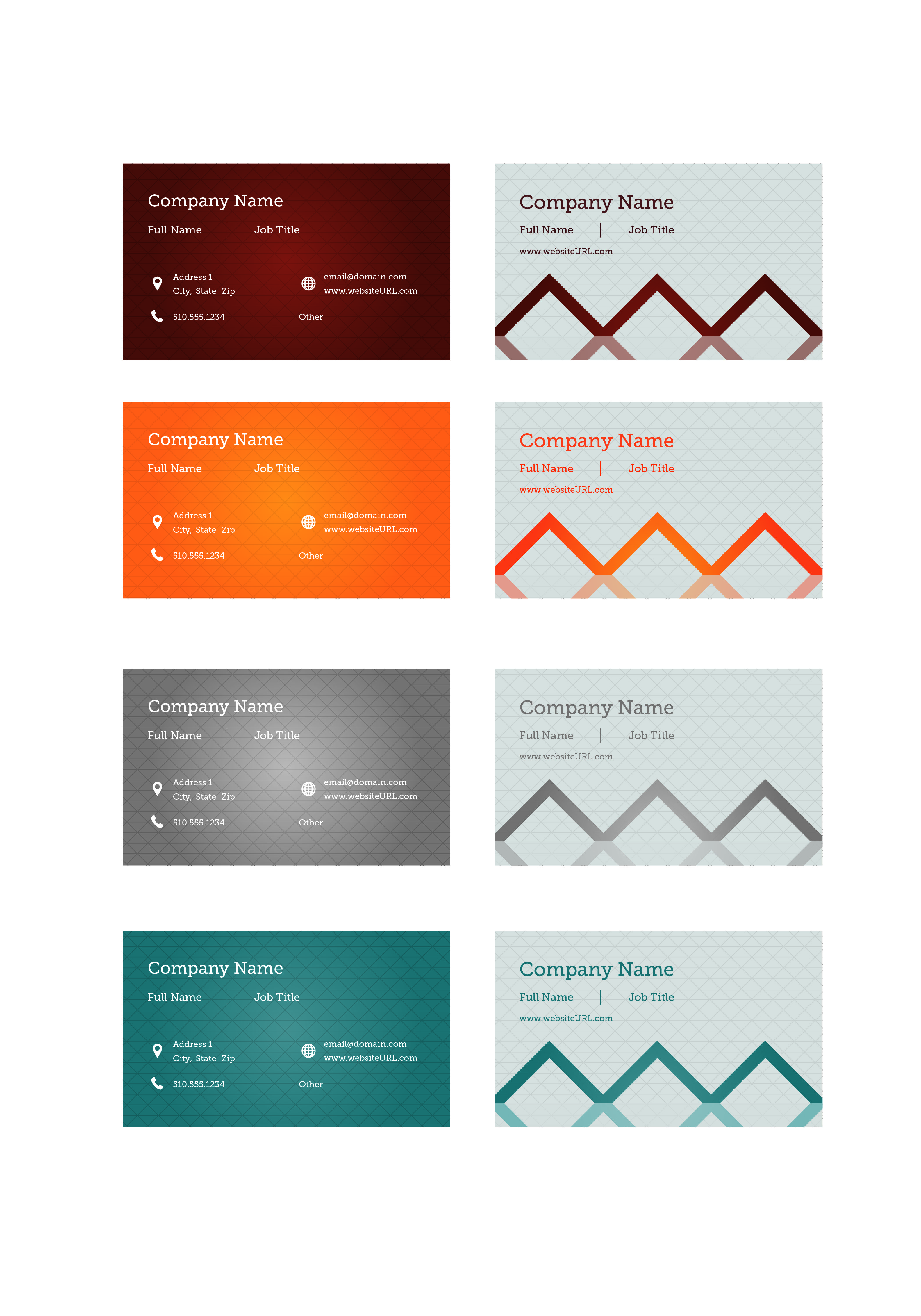 Triangle Grid Business Card Design Design Tool Templates