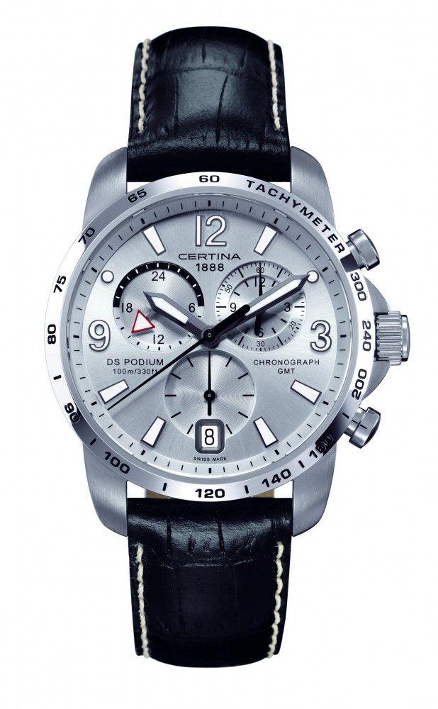 f21da319cc9 Certina DS Podium GMT Chronograph Leather Strap Watch