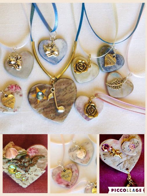 Beautiful Mixed Media Charms and Brooches handcrafted by P. Quinn at My Found Objects. Makes the perfect Mother's Day gift.