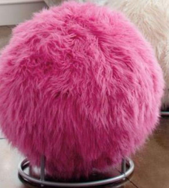 Pb Teen Pink Fuzzy Ball Chair