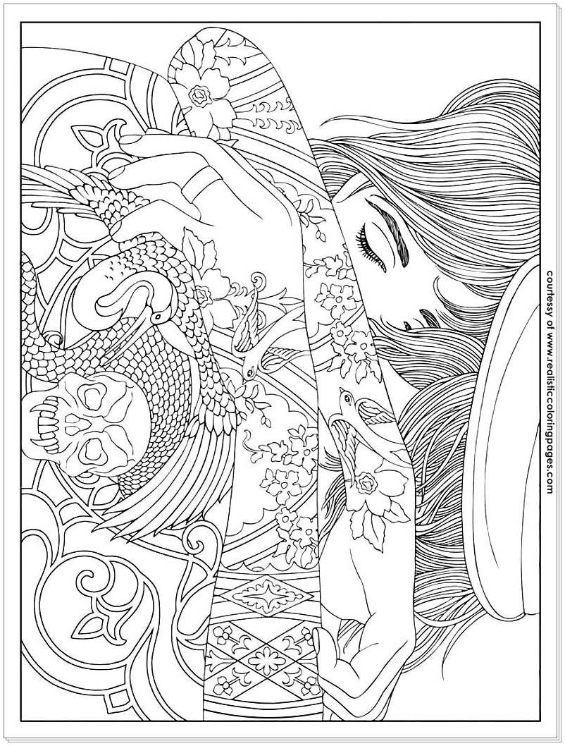 - 8 Tattoo Design Adults Coloring Pages Adult Coloring Pages