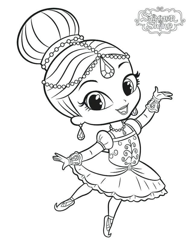 Shimmer and Shine Coloring Shimmer and Shine Coloring ...