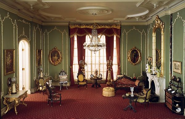 E-14: English Drawing Room of the Victorian Period, 1840-70 #miniaturerooms