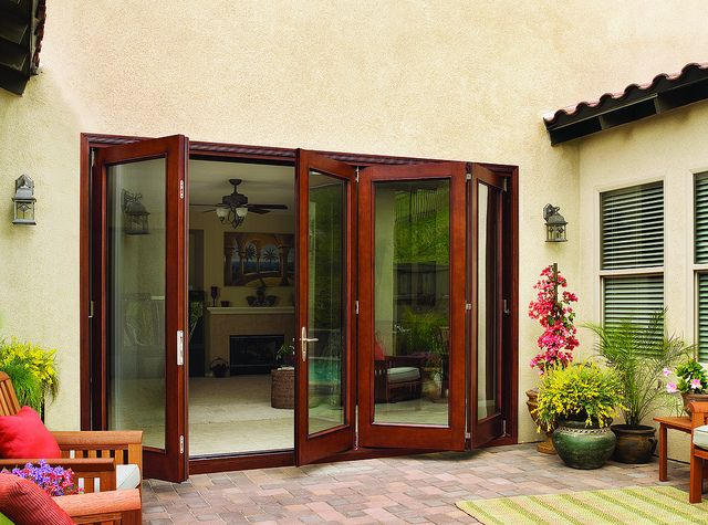 Back Patio With JELD WEN Folding Doors By JELD WEN Windows U0026 Doors,