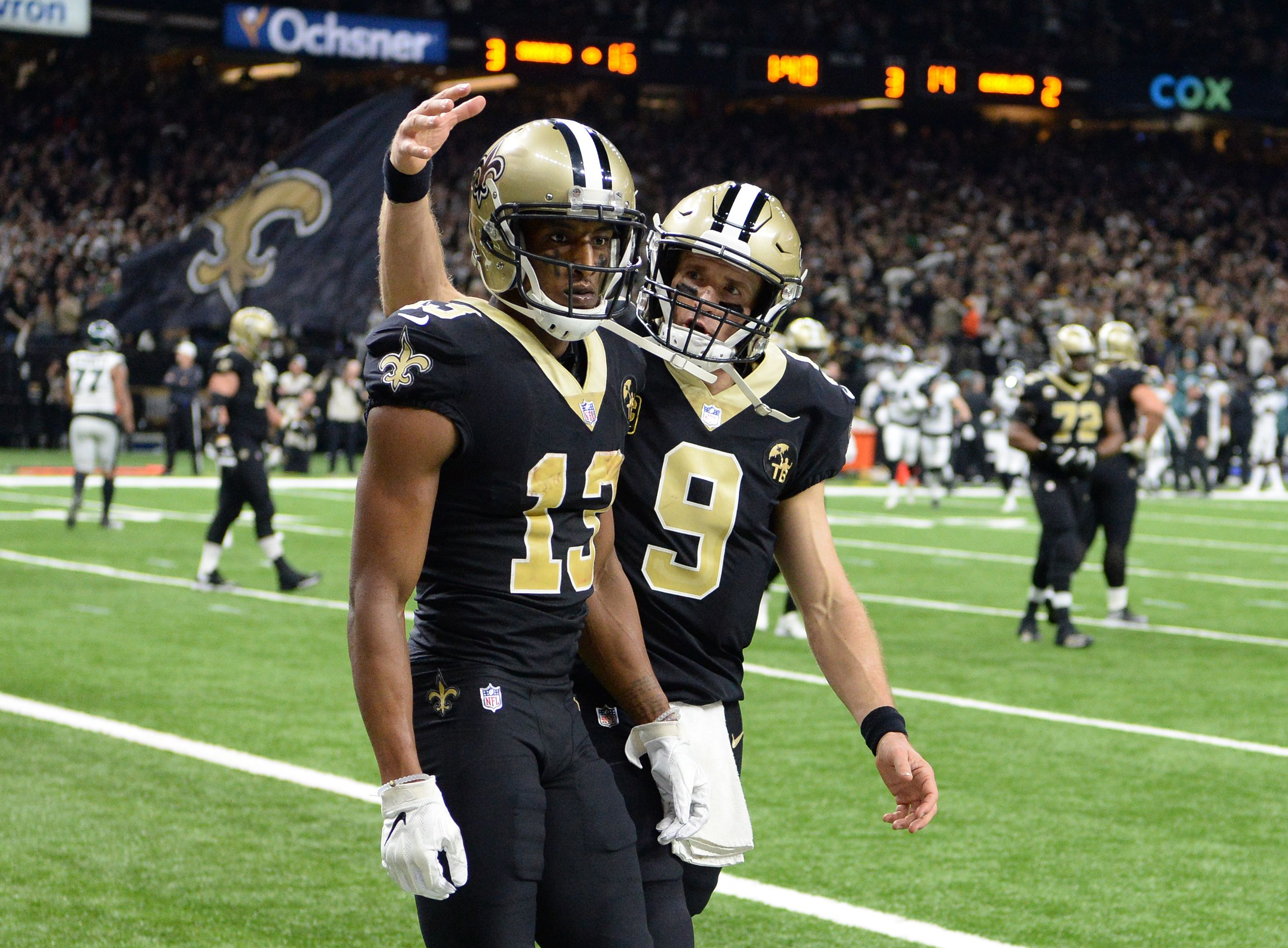 Michael Thomas Reacts To Drew Brees Comments On Kneeling We Don T Care If You Don T Agree Michael Thomas New Orleans Saints Nfl Season Start