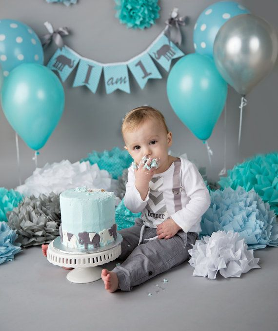 This Sweet, Little Boy Celebrated His 1st Birthday Cake