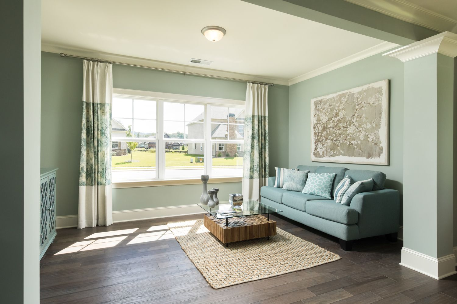 This sitting area in the Master Suite of our model home in