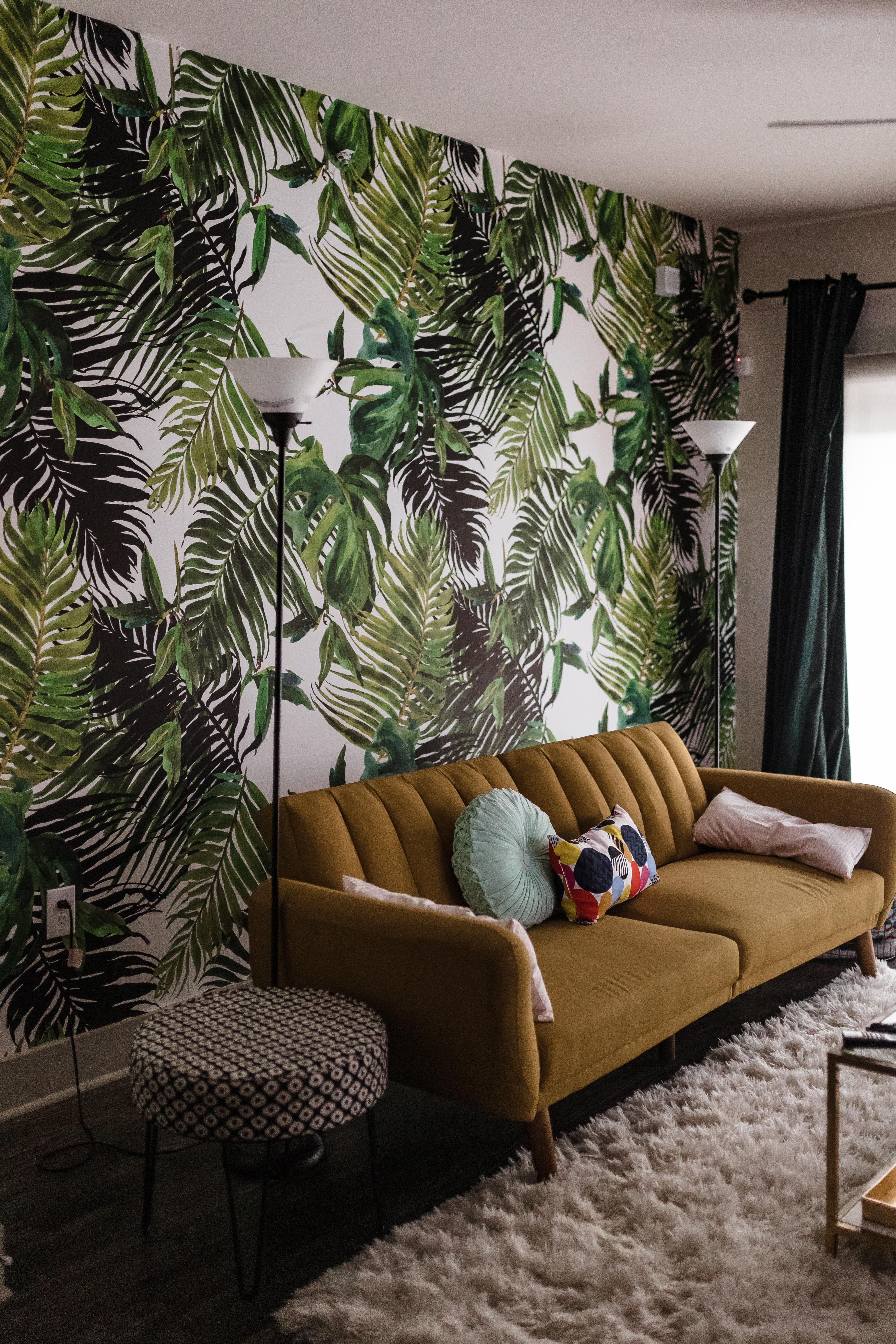 Fresh Tropical Wallpaper Wall Mural Tropical Home Decor Wallpaper Living Room Tropical Wallpaper #wallpaper #on #living #room #walls
