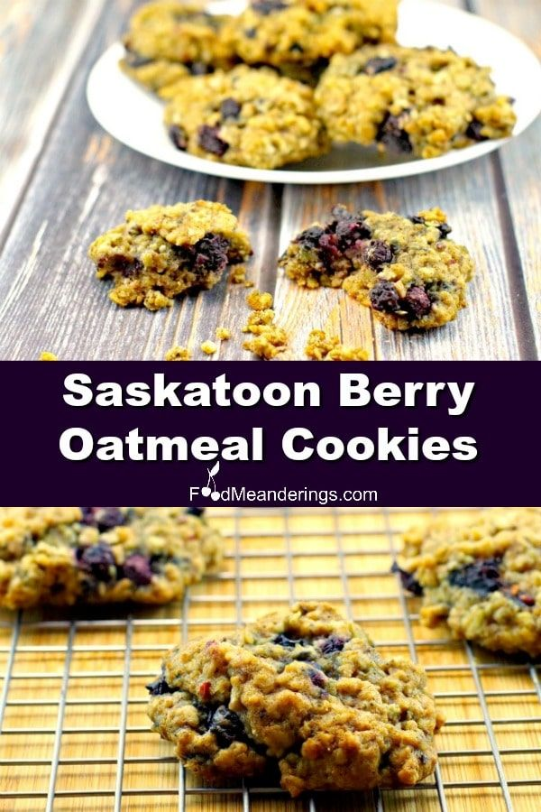 Succulent Saskatoon berries elevate the coconut brown sugar and cinnamon flavours in this delicious oatmeal cookie symphony with a nutty almond note
