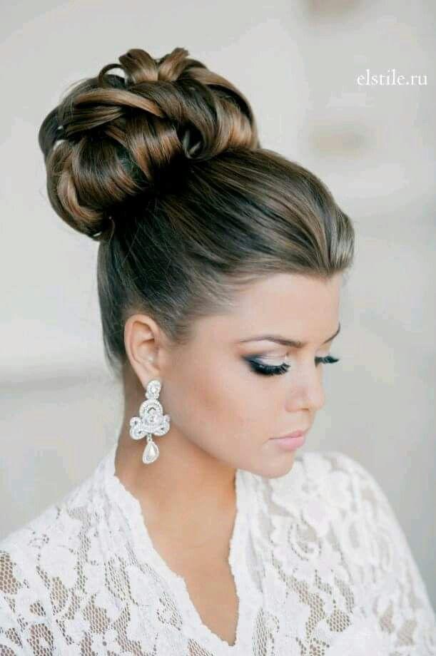 Peinado alto carpeta Uñas Pinterest Alto, Peinados y Moños