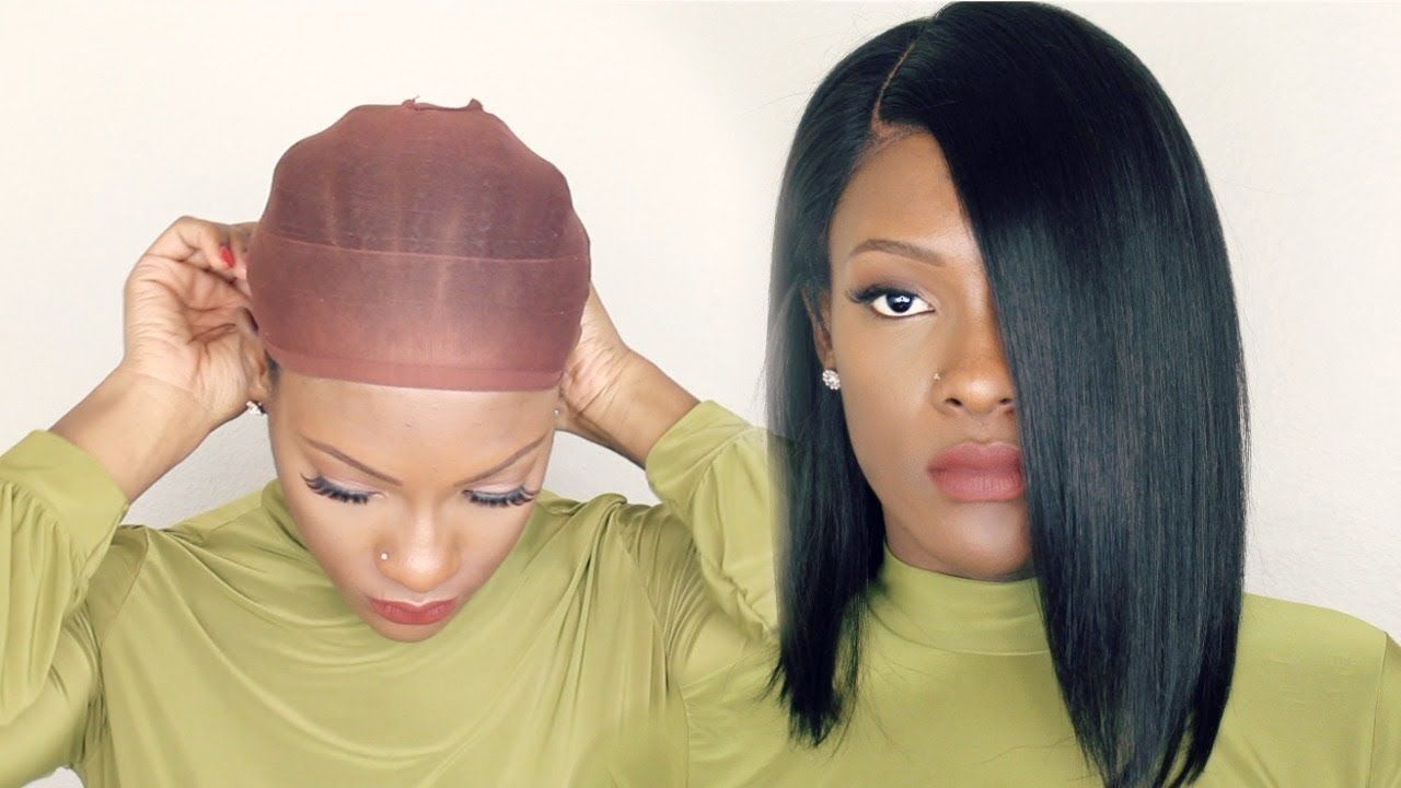 How To Wear A Wig With No Glue No Gel Youtube Weave Wigs