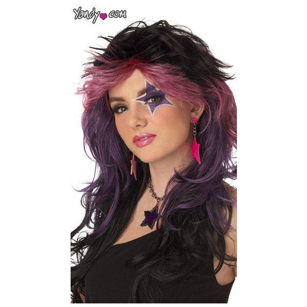 rocker wig gem wig jem wig 80s rockstar wig rock 39 n. Black Bedroom Furniture Sets. Home Design Ideas